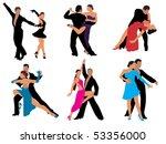 dance | Shutterstock .eps vector #53356000