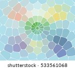 Vector Mosaic Background With...