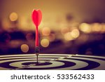 target dart with arrow over... | Shutterstock . vector #533562433