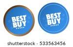 best buy stickers | Shutterstock .eps vector #533563456