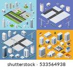 isometric set 3d city three... | Shutterstock .eps vector #533564938