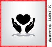 heart in the hands vector icon. ... | Shutterstock .eps vector #533565430