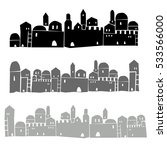 middle east town elements ...   Shutterstock .eps vector #533566000