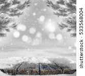 winter bright background with... | Shutterstock . vector #533568004