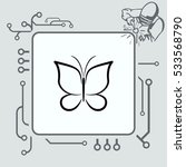 butterfly icon  vector... | Shutterstock .eps vector #533568790