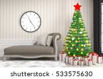 christmas tree with decorations ... | Shutterstock . vector #533575630
