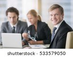 portrait of businessman with... | Shutterstock . vector #533579050