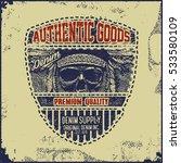 vintage denim typography ... | Shutterstock .eps vector #533580109