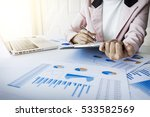 portrait of business woman with ... | Shutterstock . vector #533582569