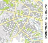 kiev map. city plan. vector... | Shutterstock .eps vector #533582890