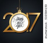 2017 happy new year greeting... | Shutterstock . vector #533584150