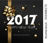 happy new year 2017 greeting... | Shutterstock .eps vector #533588173