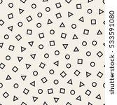 scattered geometric line shapes.... | Shutterstock .eps vector #533591080