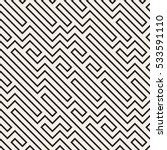 irregular maze line. abstract... | Shutterstock .eps vector #533591110