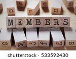 members word in wooden cube   Shutterstock . vector #533592430