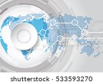 abstract future technology... | Shutterstock .eps vector #533593270