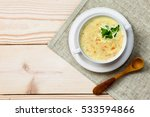 chicken and coconut milk soup... | Shutterstock . vector #533594866