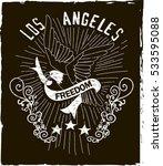 vintage los angeles varsity... | Shutterstock .eps vector #533595088