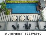 top view of a condo swimming... | Shutterstock . vector #533596960