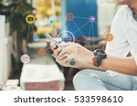 mobile apps network concept... | Shutterstock . vector #533598610