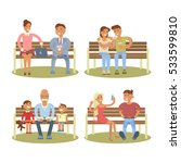 young  elderly couple and... | Shutterstock . vector #533599810