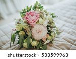 wedding bouquet of flowers and... | Shutterstock . vector #533599963