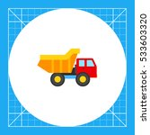 toy truck vector icon | Shutterstock .eps vector #533603320