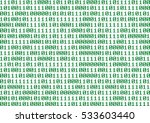 numeric binary sequence of 0... | Shutterstock . vector #533603440