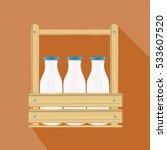 closed traditional glass bottle ... | Shutterstock .eps vector #533607520