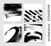 set of four black ink brushes... | Shutterstock . vector #533608348