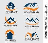 template logo home brand and... | Shutterstock .eps vector #533608834