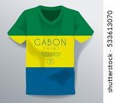 gabon shirt   national shirt... | Shutterstock .eps vector #533613070