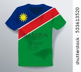 namibia shirt   national shirt... | Shutterstock .eps vector #533613520