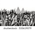 ink background with hand drawn... | Shutterstock . vector #533619079