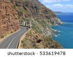 famous chapmans peak drive on... | Shutterstock . vector #533619478