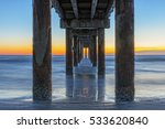 sunrise under the pier in st.... | Shutterstock . vector #533620840