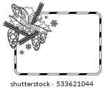 contour christmas frame with... | Shutterstock . vector #533621044