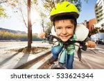 Smiling Boy In Safety Helmet...