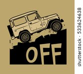 classic off road suv car sign... | Shutterstock .eps vector #533624638