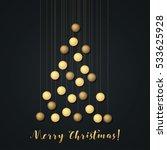 christmas lights. glowing... | Shutterstock .eps vector #533625928