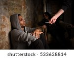 drug dealer's hand   image of... | Shutterstock . vector #533628814
