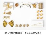 christmas or new year frame... | Shutterstock . vector #533629264