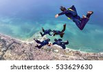 Formation Skydivers During...