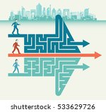 the maze direct route | Shutterstock .eps vector #533629726