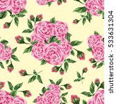 seamless pattern with pink... | Shutterstock . vector #533631304
