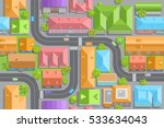 seamless pattern of the urban... | Shutterstock .eps vector #533634043