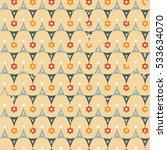 abstract retro geometric... | Shutterstock .eps vector #533634070