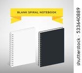blank spiral notebook template  ... | Shutterstock . vector #533640889