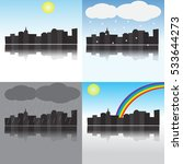 city under different weather... | Shutterstock .eps vector #533644273