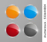 shiny round web banners or... | Shutterstock .eps vector #533644804